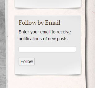 "Enter your email address and click ""Follow"" to receive an email each time a new blog post is added."