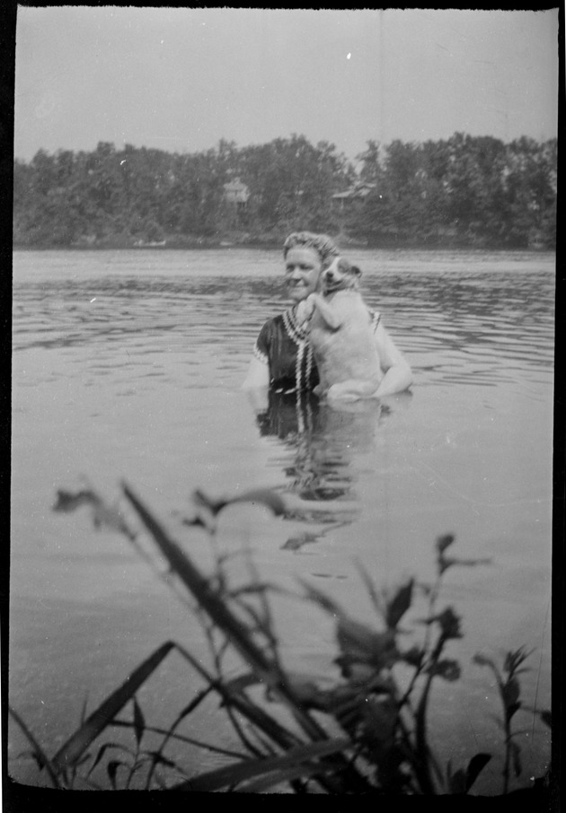 Woman and Dog from Miscellaneous Photographs