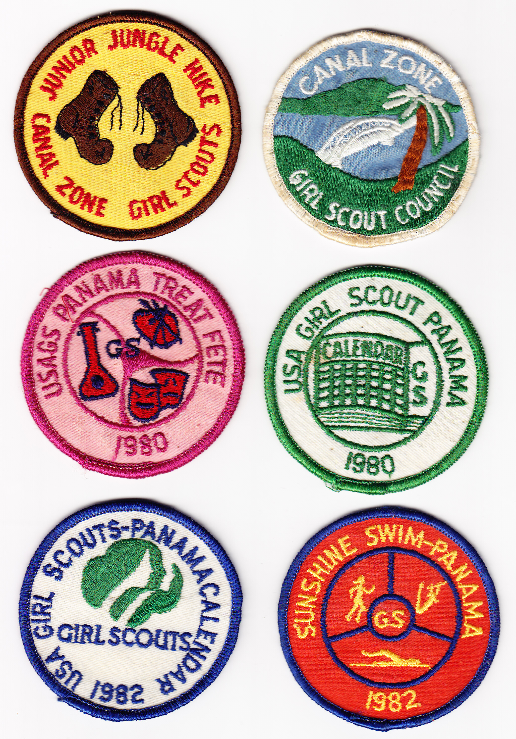 Girl Scout Patches | The Panama Canal Museum Collection at UF